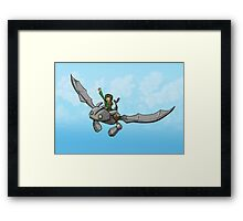 Flying Friends #1: How To Train Your Giant Framed Print