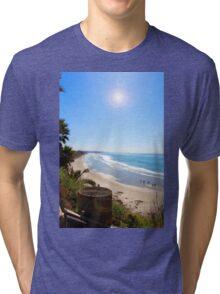 Swami's Beach, Encinitas, CA Tri-blend T-Shirt