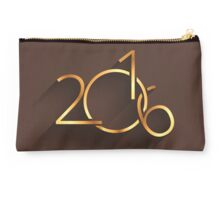 Happy New Year 2016 Brown Studio Pouch