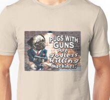 Pugs with Guns Unisex T-Shirt