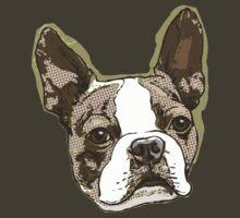 Boston Terrier Head by MudgeStudios