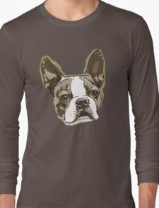 Boston Terrier Head Long Sleeve T-Shirt