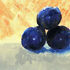 Three plums by Simon Rudd