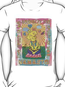 Namaste Yoga Dog T-Shirt