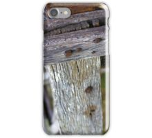 Old farm fence iPhone Case/Skin