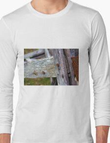 Old farm fence Long Sleeve T-Shirt