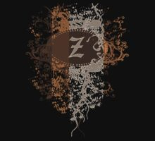 Retro Damask Pattern with Monogram Letter Z by Nhan Ngo