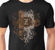 Retro Damask Pattern with Monogram Letter Z Unisex T-Shirt