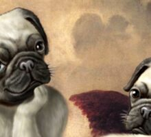 Twin Winged Pug Cherubs Sticker