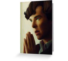 Sherlock - Think Greeting Card