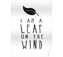 I am a Leaf on the Wind Poster