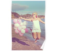 Beach Balloons Poster