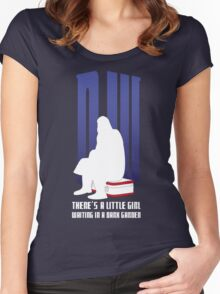 There is a little girl waiting... Women's Fitted Scoop T-Shirt