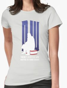 There is a little girl waiting... Womens Fitted T-Shirt