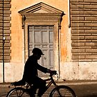 Door and cyclist by UniSoul
