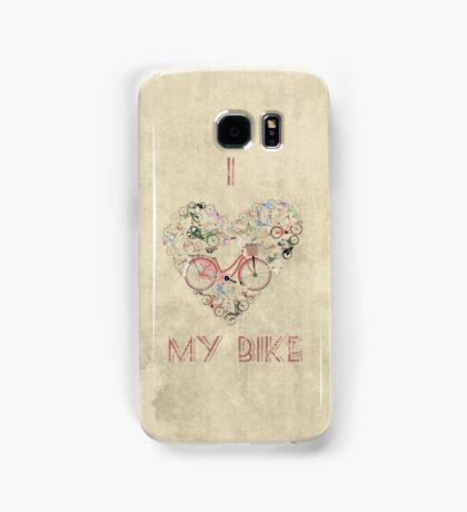 I Love My Bike Samsung Galaxy Case/Skin