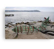 Zeppelin Crash @ Sculptures By The Sea 2012 Canvas Print
