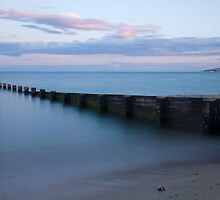 Bournemouth beach at Sunset by Ian Middleton