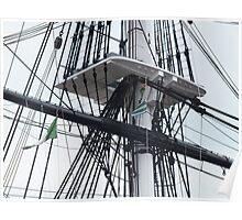 USS Constitution rigging Poster