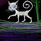 Halloween kitty cat Tia Knight by Tia Knight