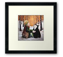 Finding Happy Framed Print