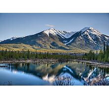 Mountains and Vermillion Lakes, Banff AB Photographic Print