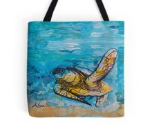 india ink blue and gold  Tote Bag
