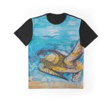 india ink blue and gold  Graphic T-Shirt
