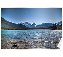 Banff mountains and beautiful lake Poster