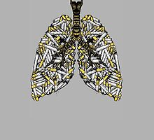 CLEAN LUNGS T-SHIRT by Miskel Design