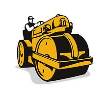 Vintage Road Roller  Retro by patrimonio