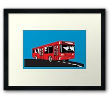 Coach Bus Shuttle Retro Framed Print
