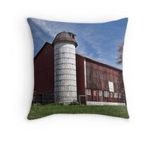 A cool looking barn Throw Pillow