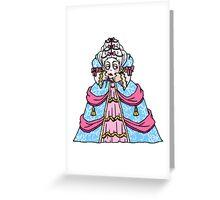 headless marie antoinette Greeting Card