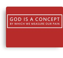 God is a Concept - John Lennon Canvas Print