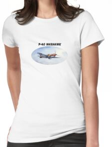 P-40 Warhawk Aircraft Womens Fitted T-Shirt