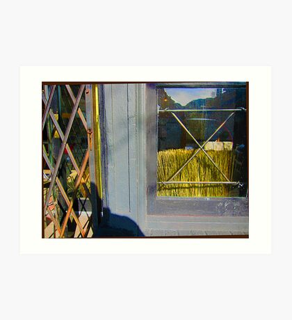Window-Wheat Art Print