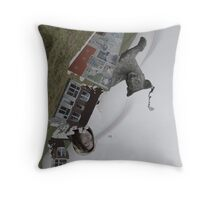 The World Has Turned Throw Pillow