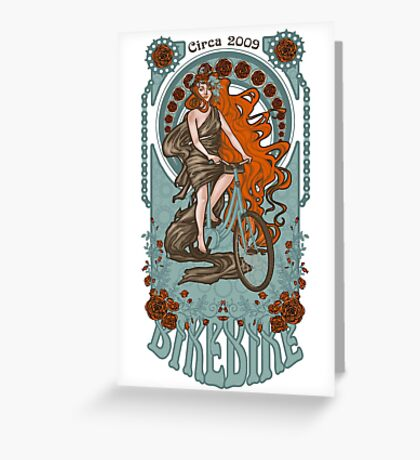 BikeBike Nouveau Greeting Card