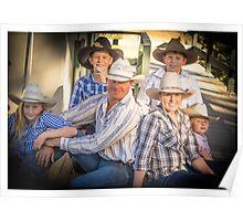 Family photo on verandah Poster