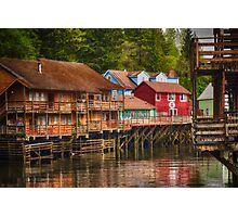Creek Street - Ketchikan Alaska Photographic Print
