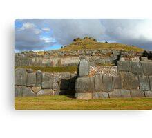 Inca stonework Canvas Print