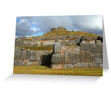 Inca stonework Greeting Card