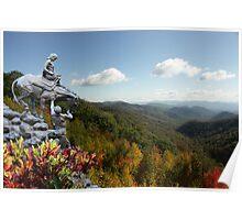 Mountain Travelers Poster