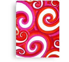 Doodle Swirls Canvas Print