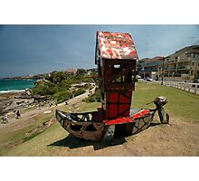 Outboard Motorboat @ Sculptures By The Sea 2011 Photographic Print