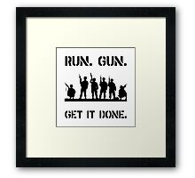 Military Get It Done Framed Print