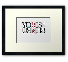 Justice and Equality Framed Print