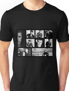 Paul Wesley in Black and White Unisex T-Shirt