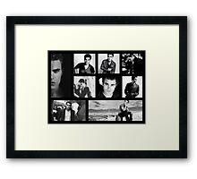Paul Wesley in Black and White Framed Print